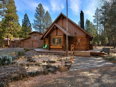Photo for Charming cabin located on 2 acres pine forest land surrounded by national forest -  2 bedrooms/1.5 b