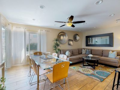 Photo for Oceanview condo right near the beach, walk to the sand!