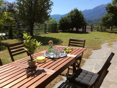 Photo for Spacious Ticino house on 3 floors with garden and great views