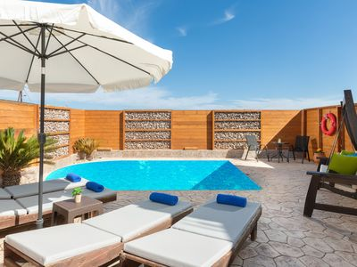 Photo for Ifigeneia Villa 400 meters from the beach with private pool
