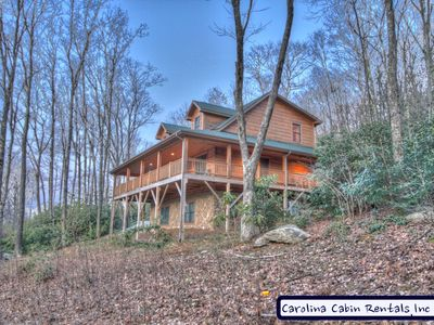 Photo for 5BR Cabin, Hot Tub, Pool Table, Granite/Stainless, Huge Covered Decks, Mins to Downtown Banner Elk