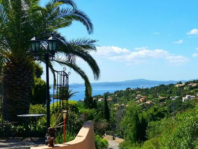 Photo for Comfortable holiday home with sea view + private garage, quiet southwest hillside