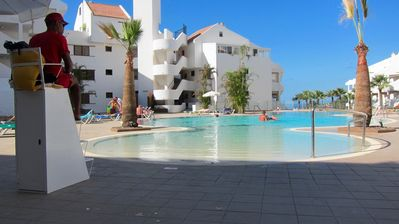 Photo for Los Cristianos.Penthouse with ocean and swimming pool view.Free wifi & Netflix.