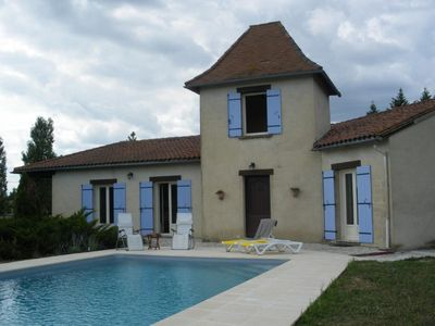 Photo for Perigourdine style villa with private pool - near medieval village of Issigeac