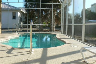 Pool Area faces West for best sun exposure