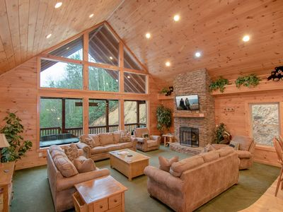Photo for Secluded on 5 acres, Pool Access- Hot Tub- Wifi- Game Room- Pool Table- Fire Pit