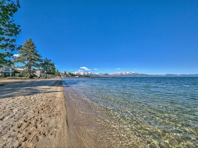 Photo for Lake-side Tahoe Home w/Private Beach, Pool & next to Heavenly!