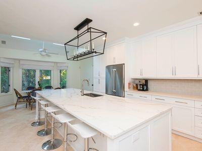 kitchen with 12 foot island is brand new luxurious immaculate vanderhorst home priva      vrbo  rh   vrbo com