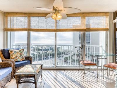 Photo for Ocean view, family-friendly home w/ balcony, shared pool & private beach access!