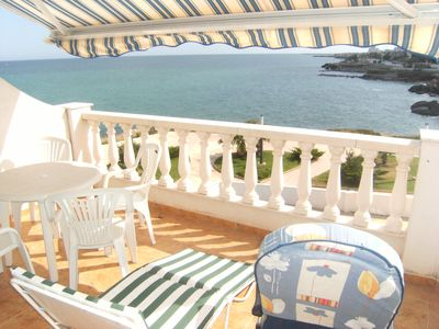 Photo for APARTMENT WITH COMMUNITY SWIMMING POOL WITH SEA VIEWS 20 M. BEACH 4 PEOPLE.