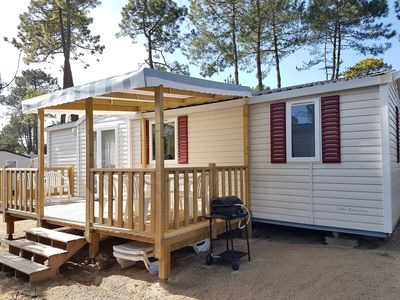 Photo for Mobil home for 6 people in 4-star campsite - 2 heated indoor swimming pools