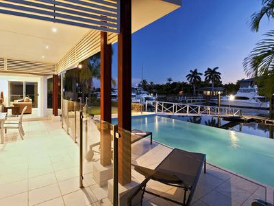 Photo for Mulloka Villa Sunshine Coast - Absolute waterfront, Private pool & Pet friendly