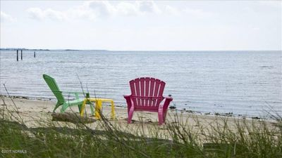 Photo for Waterfront, private beach, family gatherings,  5 bedrooms, bonfires and sunsets!