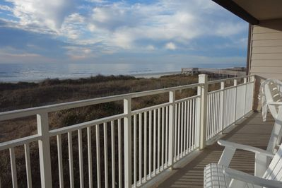 Amazing views of ocean and wildlife from oversized balcony!