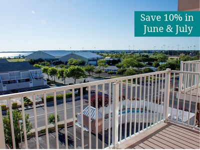 Photo for Stunning Sunsets on Your Balcony - Peaceful Views of Bay & Northside Park!