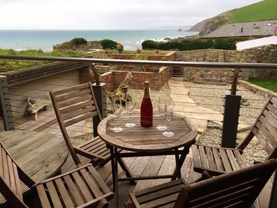 Photo for Luxury Beachside Cottage - Unspoilt Cornish Village - Child/Dog Friendly