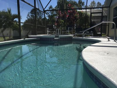 Photo for Water View - Pool & Spa - 3.5 miles to Disney - WiFi - TV/Netflix - Wii - BBQ
