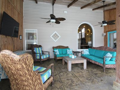 Photo for Fabulous outdoor patio, Private heated pool, hot tub, 6bdr/6ba,18-24