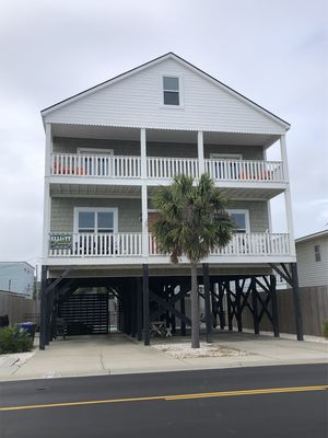 Photo for OCEAN CALLING - 2nd row Luxury Private Beach Home w/ Pool, Hot Tub & Outdoor TV