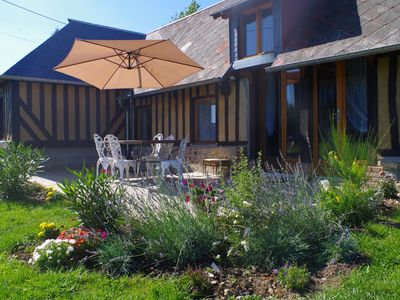 Photo for 4 **** cottage + private pool, near Honfleur