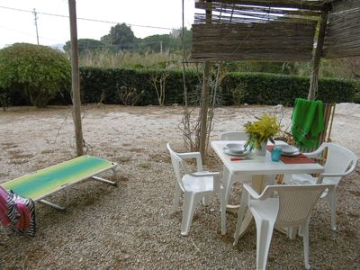 Photo for Holiday Apartment with Air Conditioning, Garden and Terrace; Parking Available; Pets Allowed