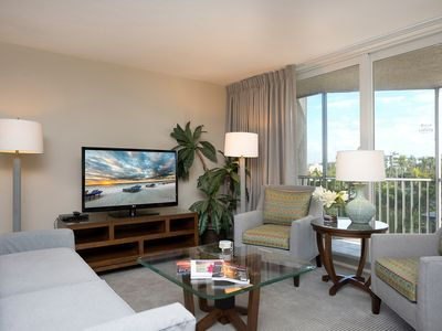 Photo for Modern + Sunny Suite by the Beach! | Access to Tennis, Pool + Gym