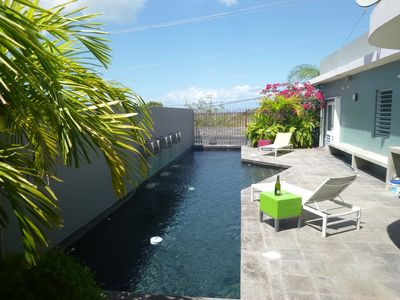Swimming pool with view of the ocean