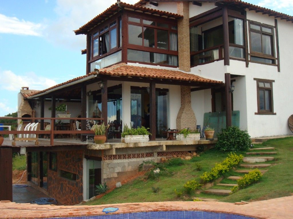 Rustica luxury house in rasa beach with panoramic views of for Casas de campo rusticas