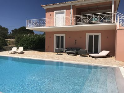 Photo for Luxury villa with private pool, paddling pool, outdoor shower and sea views