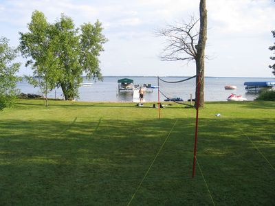 View from the deck.  Ottertail is the 10th largest lake in Minnesota.