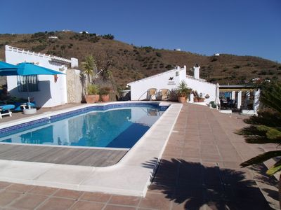 Photo for Finca with fantastic sea view and pool