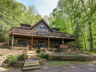 DOGS WELCOME! Split Lakefront Home w/Private Dock, Hot Tub, & Fire Pit!