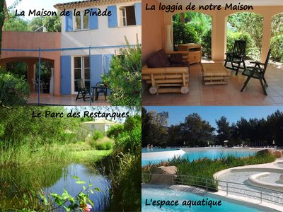 Photo for VILLA, 4/8 pers-3br with balcony, terrace and garden, pool Grimaud