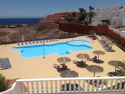 Photo for Tenerife dream vacation, sea view, wifi, swimming pool. From 40euros plus costs