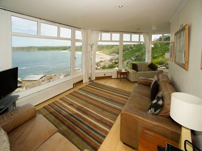 Photo for Wonderful Apartment overlooking Sennen Cove, Exceptional Sea Views