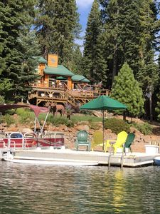Photo for BEAUTIFUL LAKE HOUSE WITH LARGE DOCK AND BUOY. .