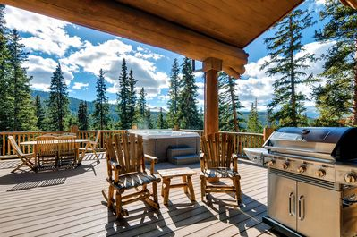 Picturesque Surroundings from the Deck - Hot Tub, BBQ Gas Grill and Outdoor Fireplace complete the outdoor space