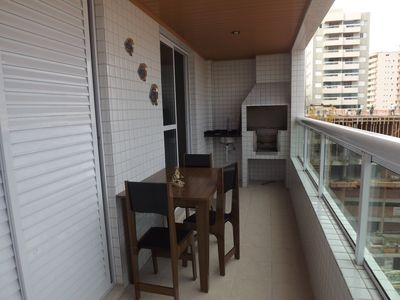 Photo for Apartment, balcony w / BBQ and sea view
