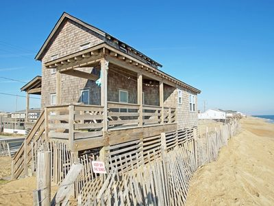Photo for 4BR Oceanfront home located on the beach in Kitty Hawk steps to the Ocean!!!!