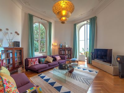 Photo for Charming luxury 2BR appartment, large terrace, breathtaking sea view, parking