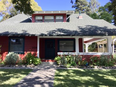 The Napa Art House is a large 1920's Craftsman style home.