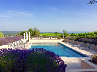 Photo for Authentic farmhouse in Luberon national park with large private pool