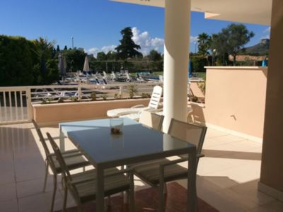 Photo for Holiday Gardenia - 2 bedroom apartment with swimming pool in Cala Bona