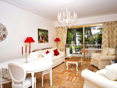 Photo for Luxury residence,beach,park,sea view,terrace,peace,air.cond,large 1-bedr apart