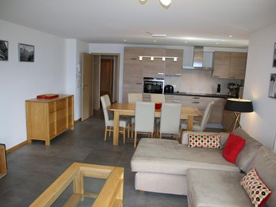 Photo for 5* luxury 3-room-partment for 6 people located next to the (ski)lift. Modern living room, sofa bed,
