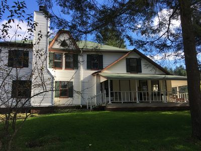 Photo for Beautiful Catskills Farmhouse on 5 acres with pond and woods.