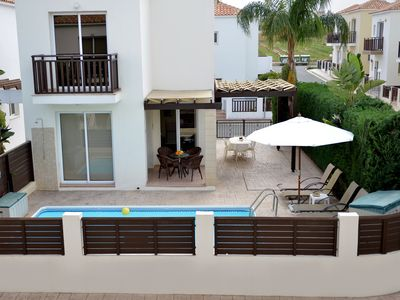 Photo for Daisy Villa - 2 bed villa, private pool, wifi, air-con,near Pernera & beach