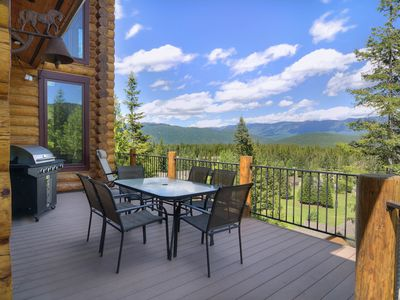 Photo for NEW LISTING! Luxurious lodge w/ gorgeous mountain views and a private hot tub