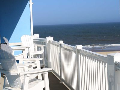 Photo for Fabulous Spacious Side Unit in Ocean Front Building. Perfect location for your Vacation Sleeps 10
