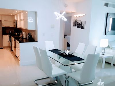 Photo for Full equiped apartment, direct access to the beach, climatized pool, parking
